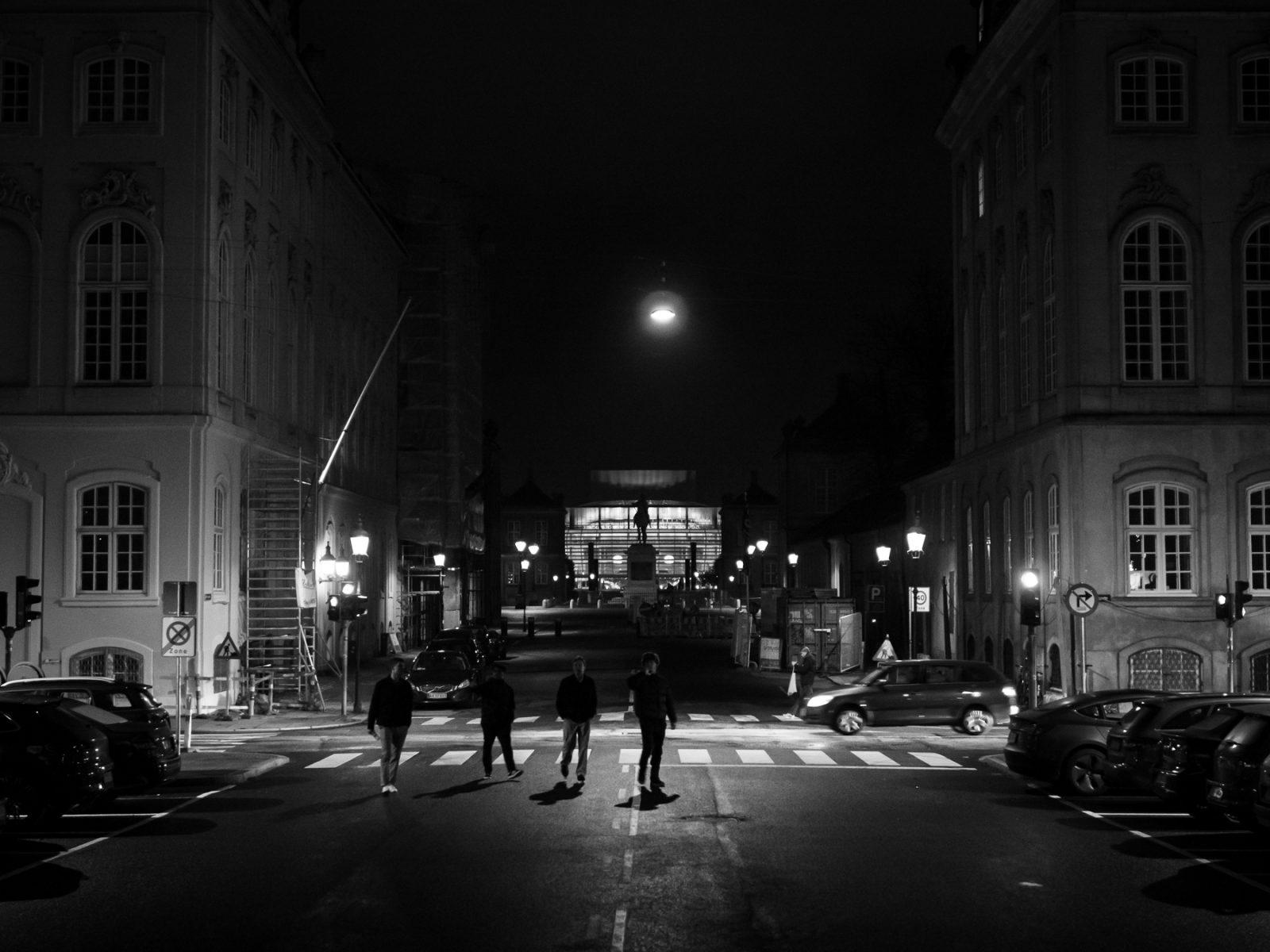 Street photography: Young people at the Marble Church with The Opera in the background