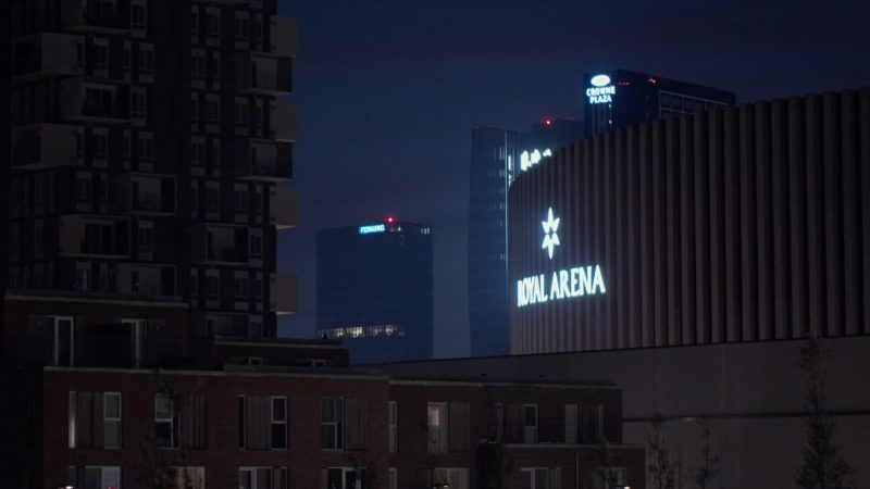 Video about Ørestad at night, 2018