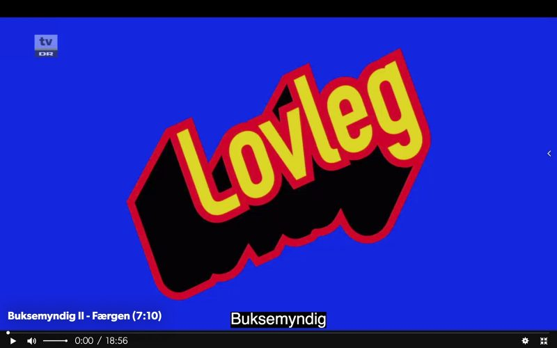 Screendump of Lovlegs title sequence