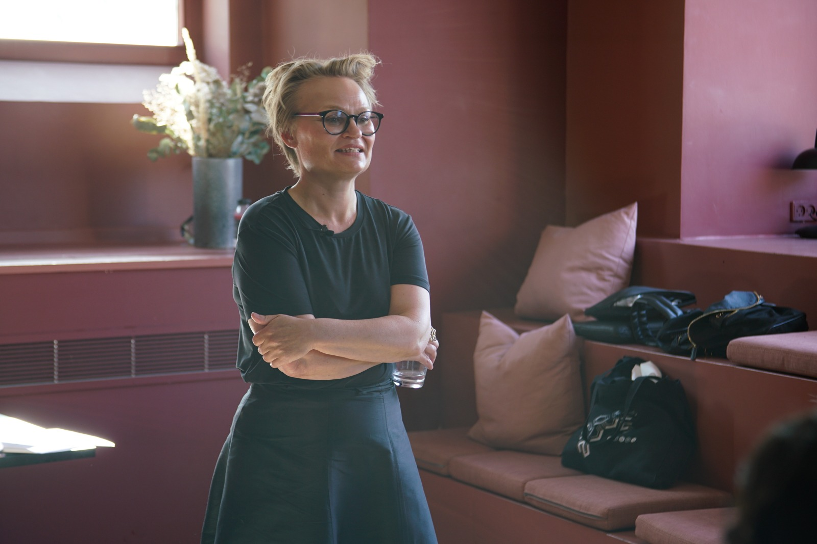 Event photography: Mette Willert at Creative Mornings Cph - shot with Lomography Neptune