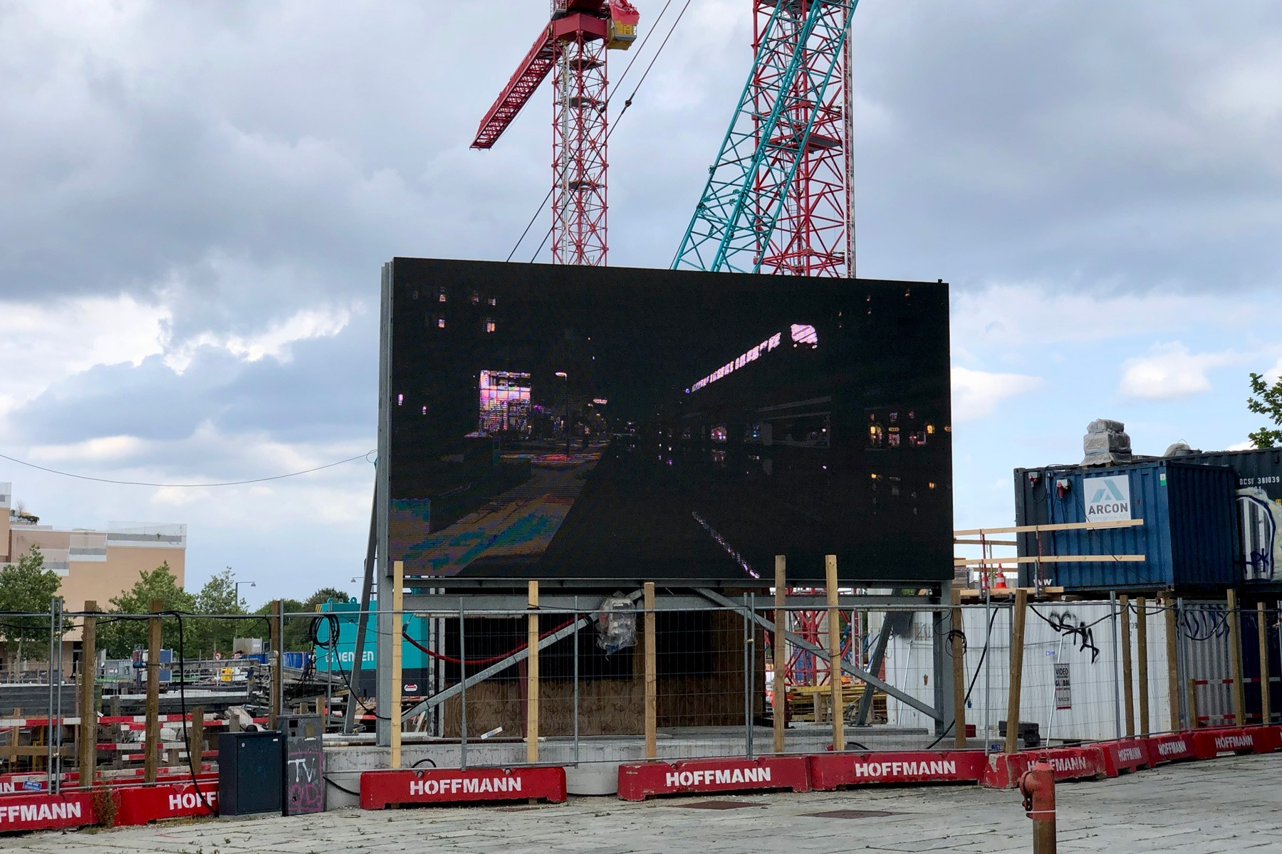 The video production Ørestad C - Day to Night - on the big screen