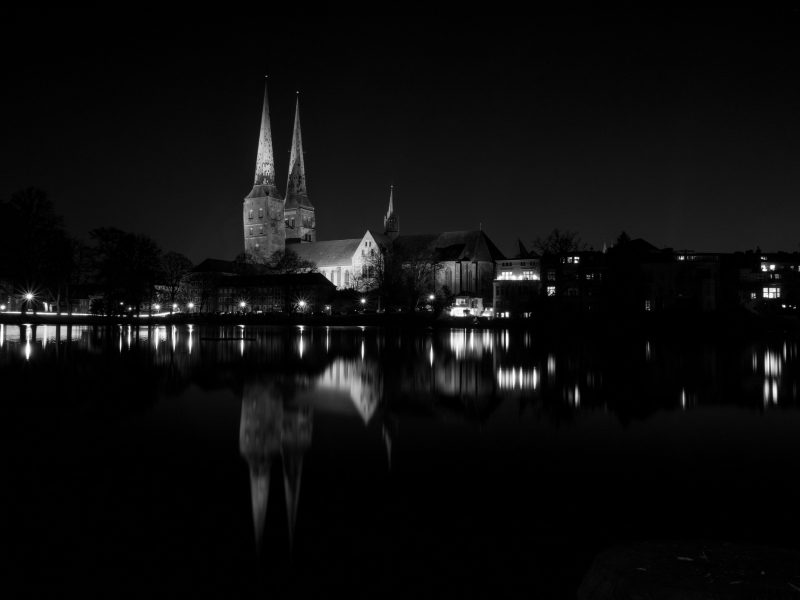 Night photography in Lübeck, Germany - The Cathedral