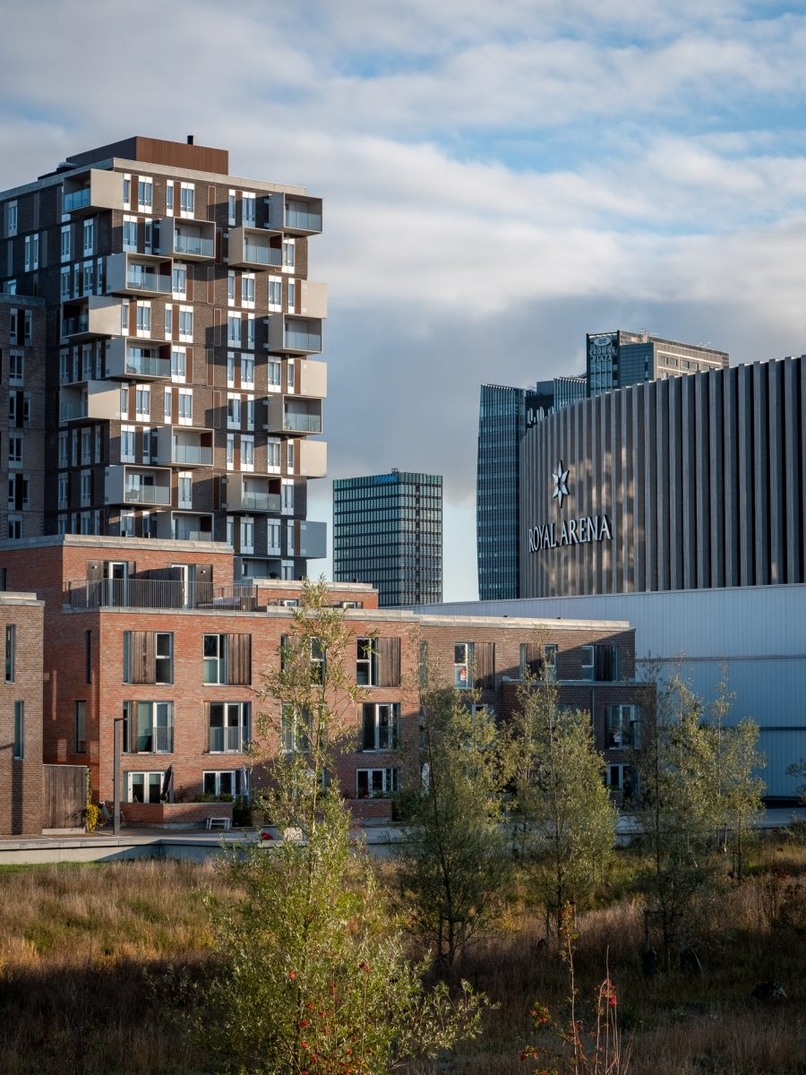 High-rises in Ørestad, fall 2019, by Ørestad based photographer Stefan Grage