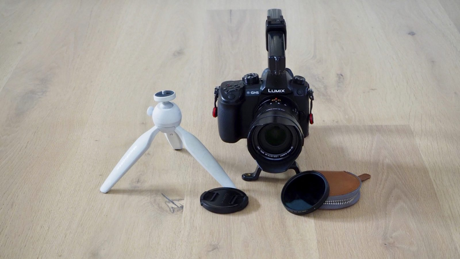 Panasonic GH5 with 12-60mm f2.8-4, Syrp ND filter, Manfrotto tripod and Cam Caddie