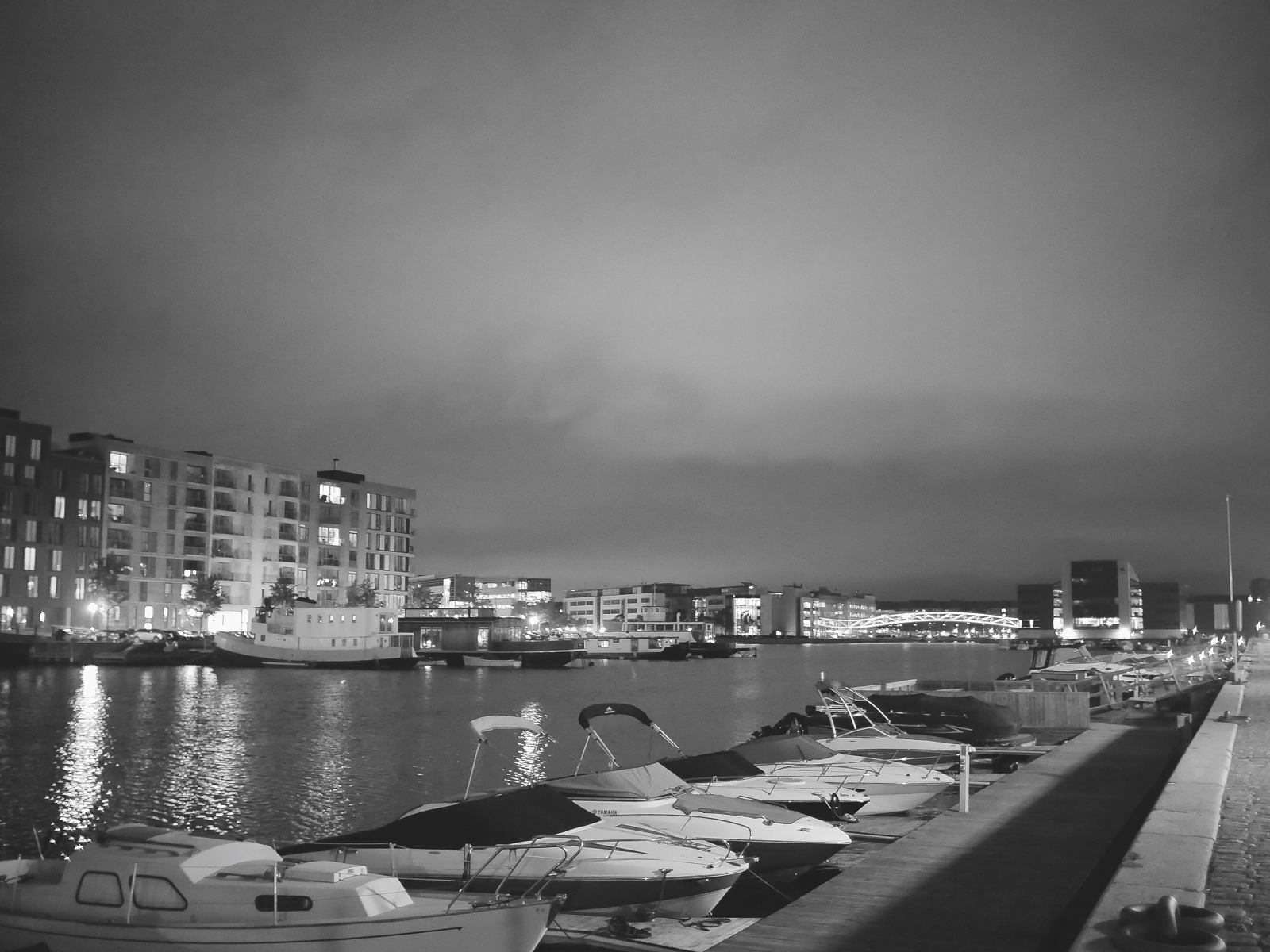 Urban geometry: The South Harbour in Copenhagen - Voigtländer 17.5mm for Micro Four Thirds