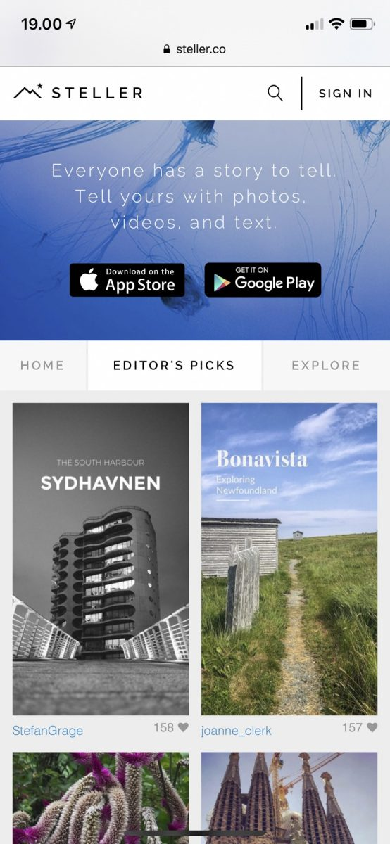"""Sydhavnen was on the """"editor's picks"""" page"""
