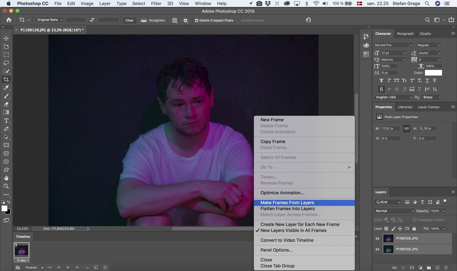 Photoshop: Make Frames From Layers